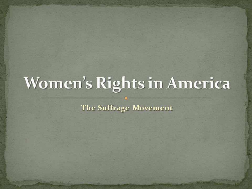 Women's Rights in America