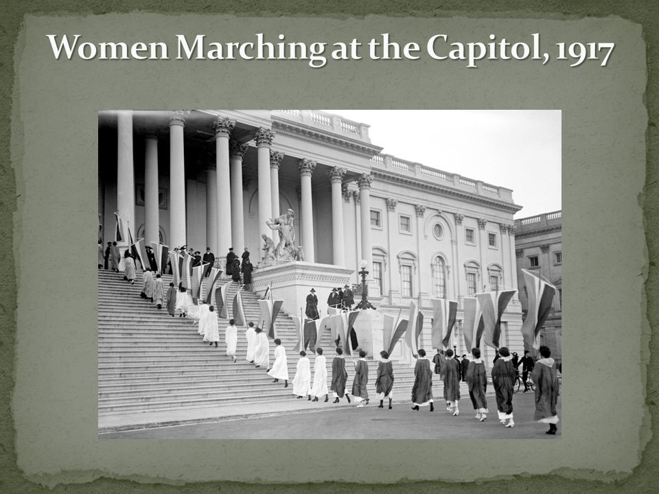 Women Marching at the Capitol, 1917