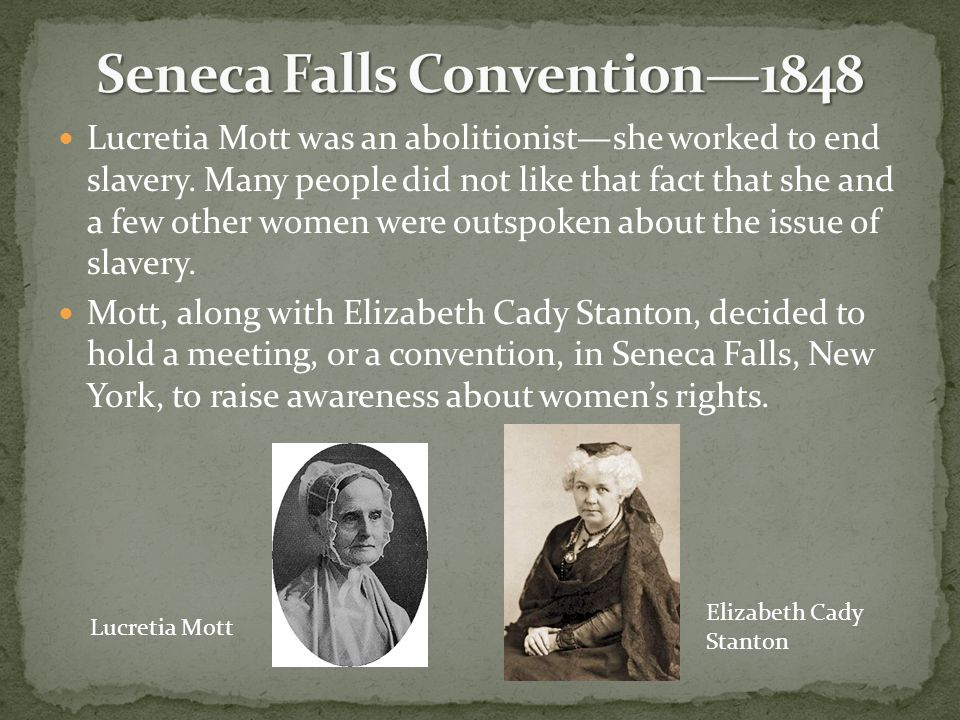 Seneca Falls Convention—1848