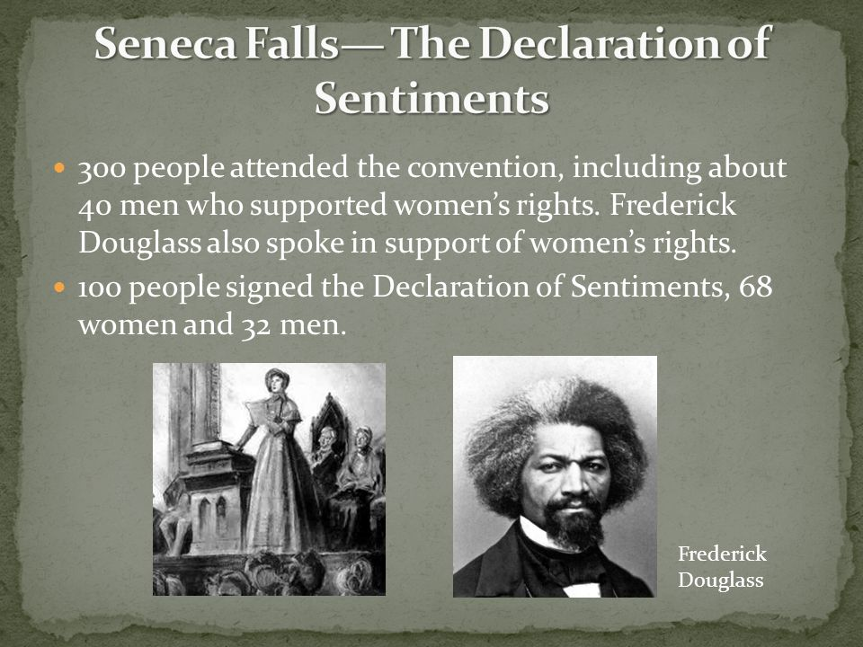 Seneca Falls— The Declaration of Sentiments