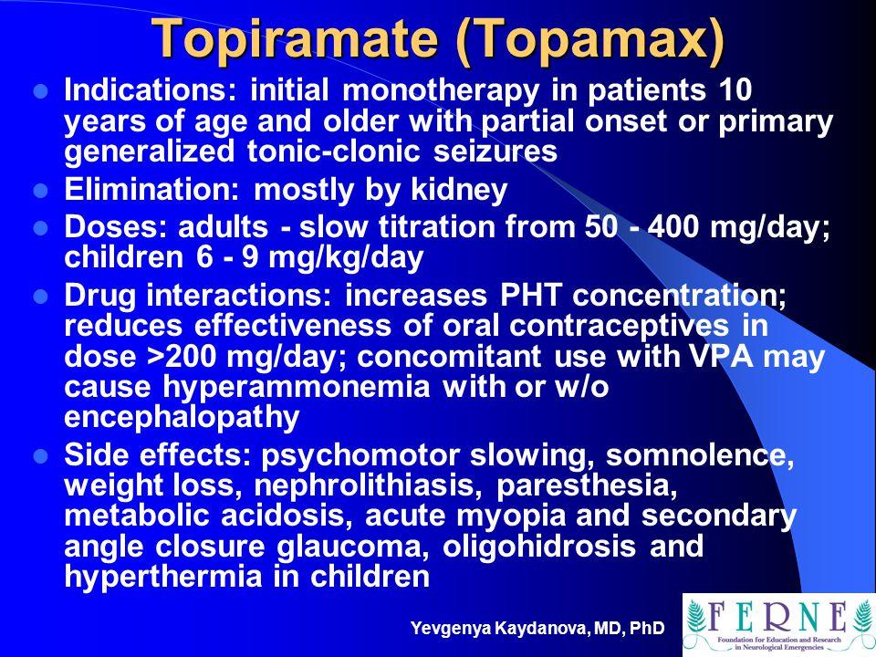 Topiramate (Topamax)
