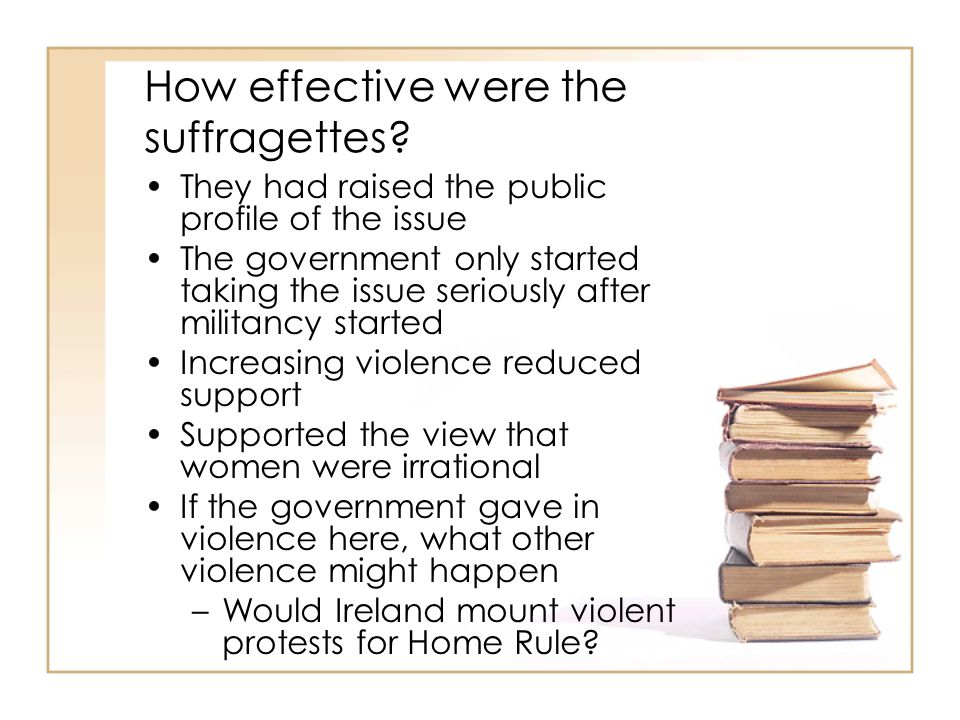 How effective were the suffragettes