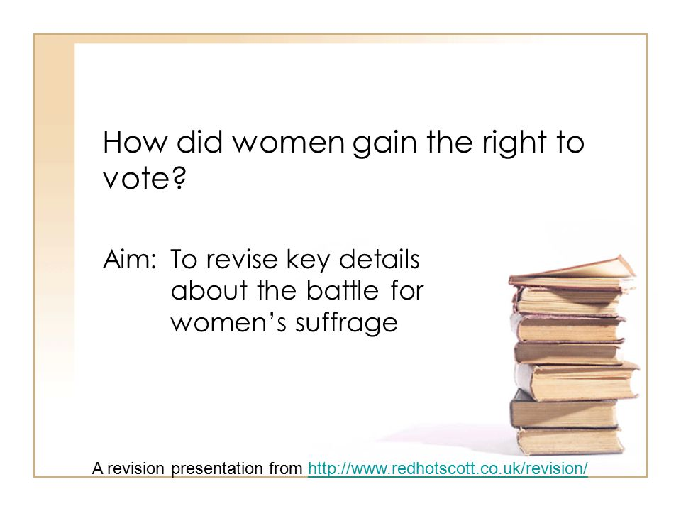 How did women gain the right to vote