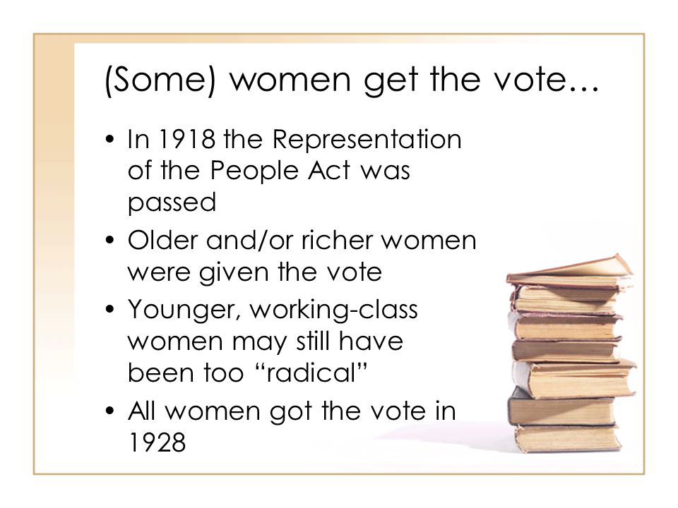(Some) women get the vote…