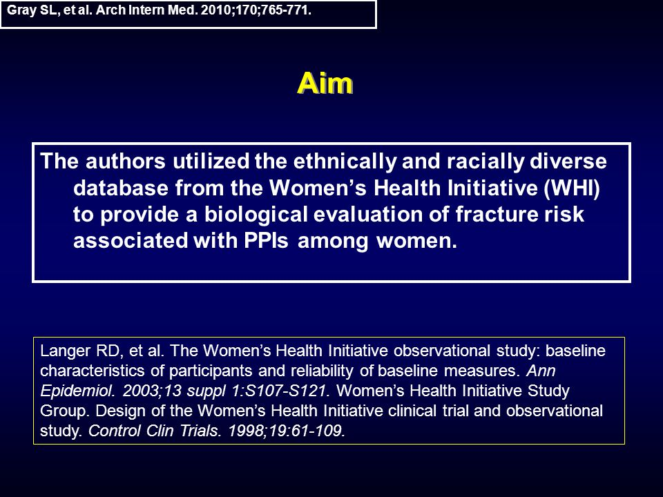 Gray SL, et al. Arch Intern Med. 2010;170;765-771.