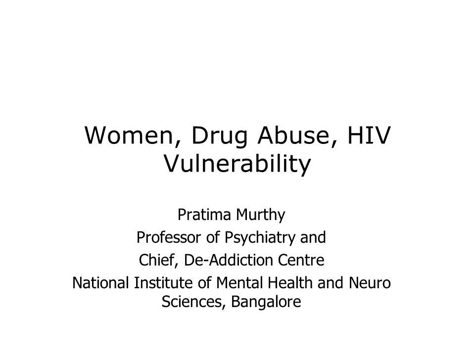 Women, Drug Abuse, HIV Vulnerability