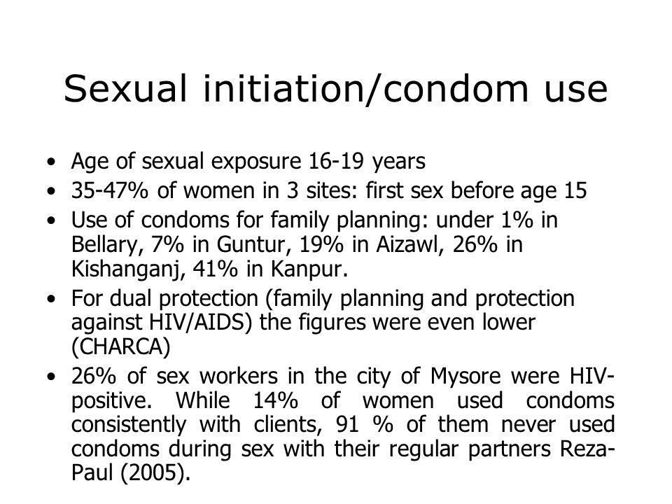 Sexual initiation/condom use