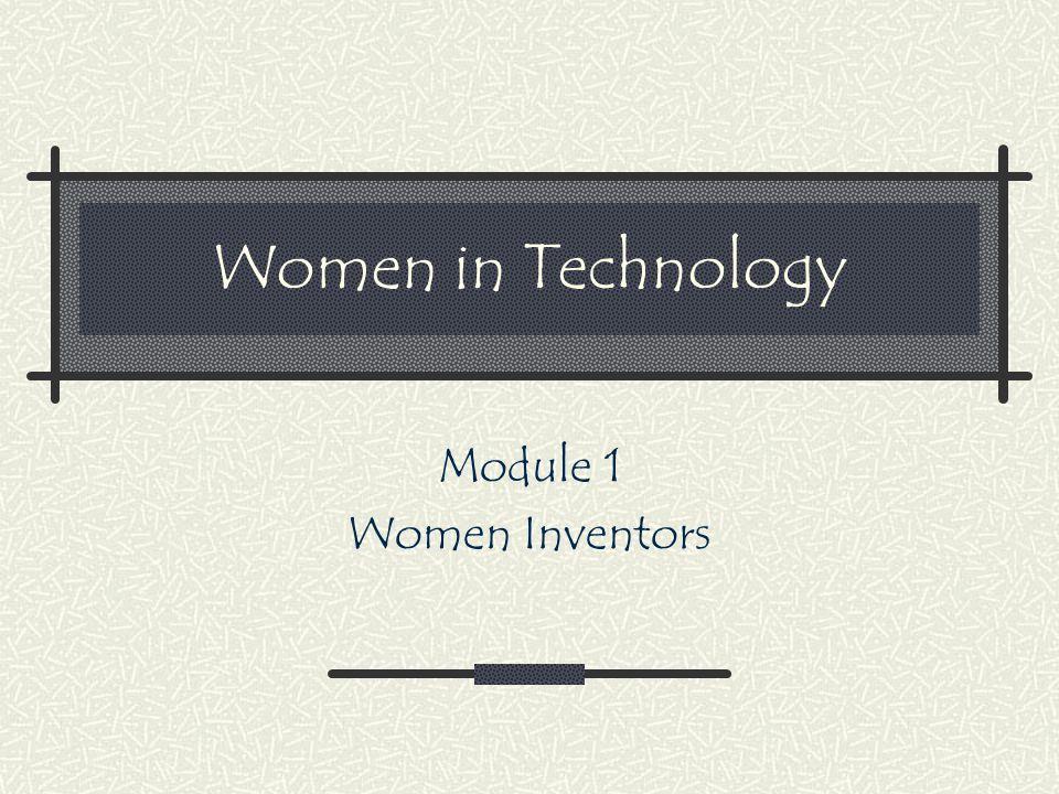 Module 1 Women Inventors