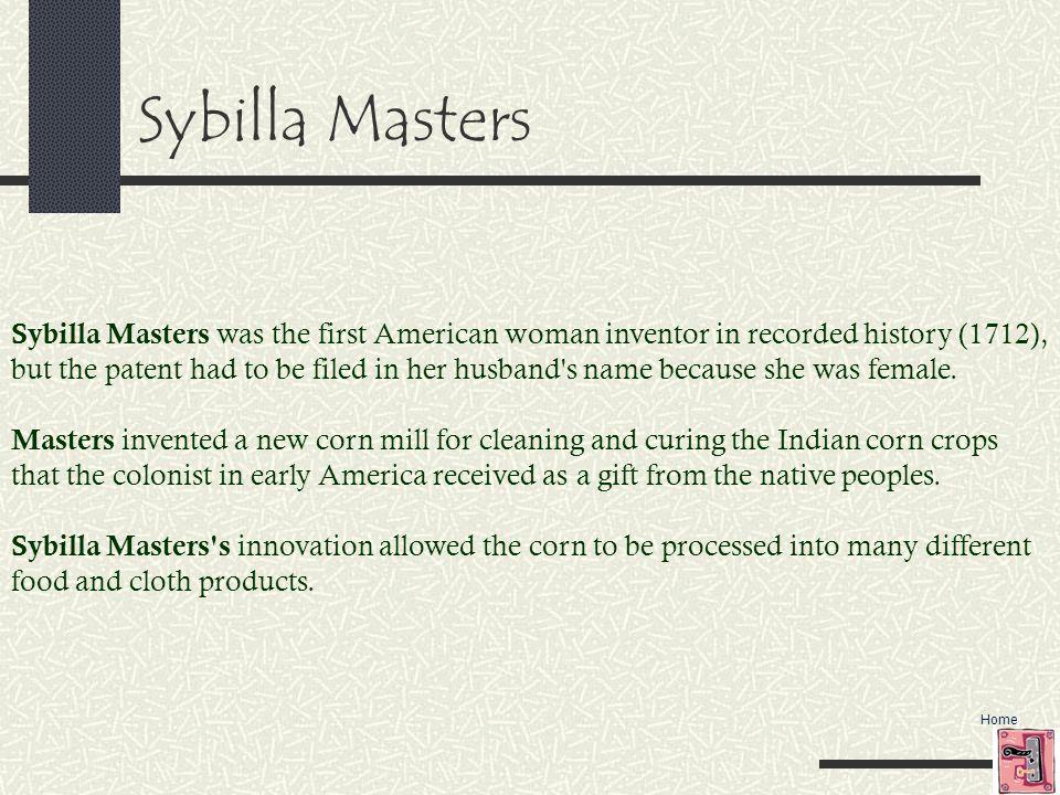 Sybilla Masters
