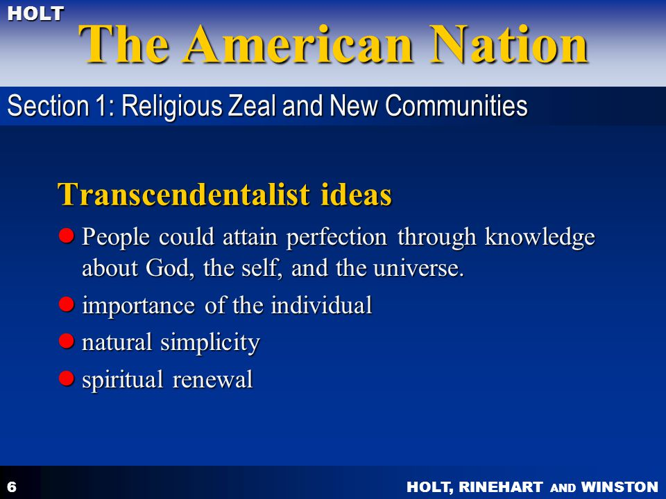 Transcendentalist ideas