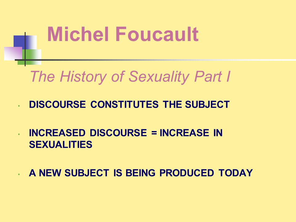 Michel Foucault The History of Sexuality Part I