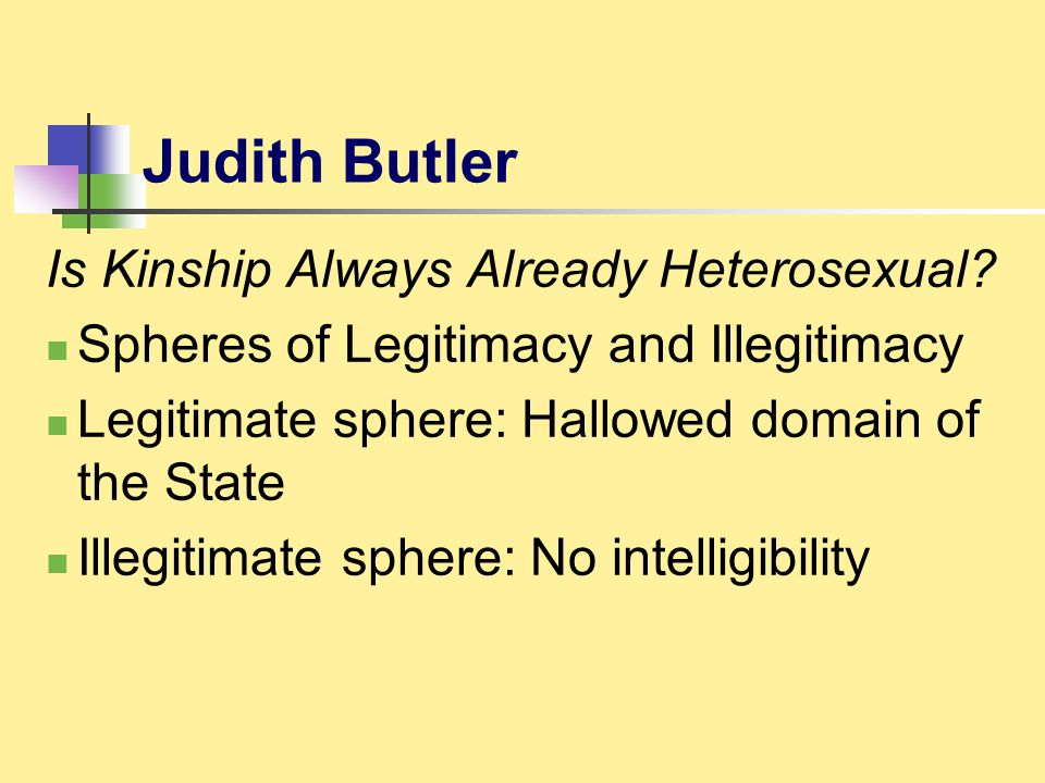 Judith Butler Is Kinship Always Already Heterosexual
