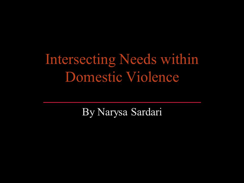 Intersecting Needs within Domestic Violence _____________________