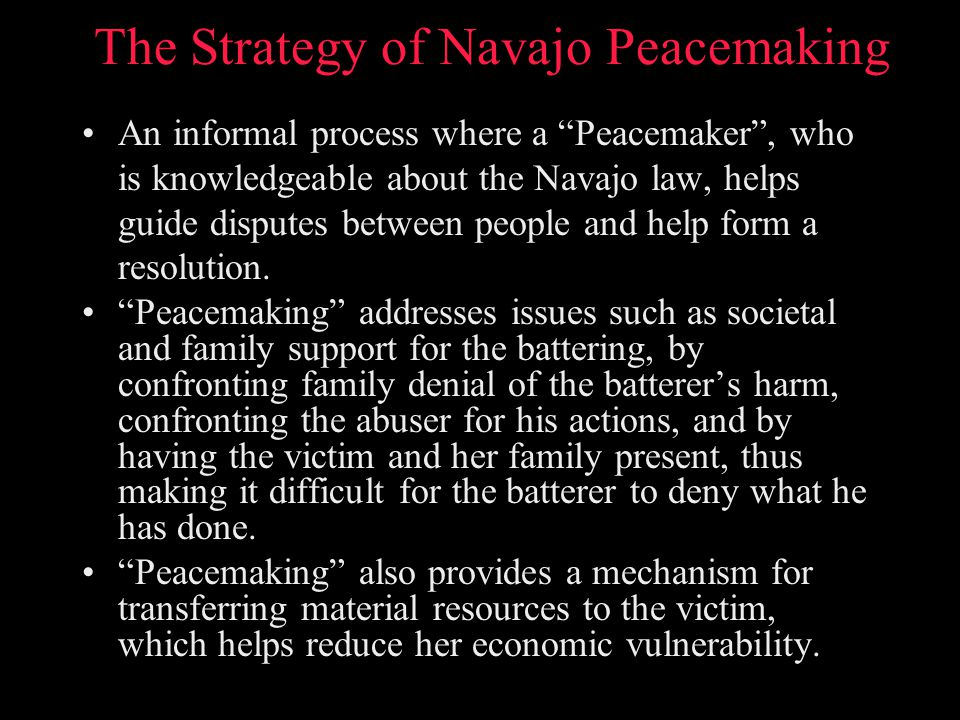 The Strategy of Navajo Peacemaking