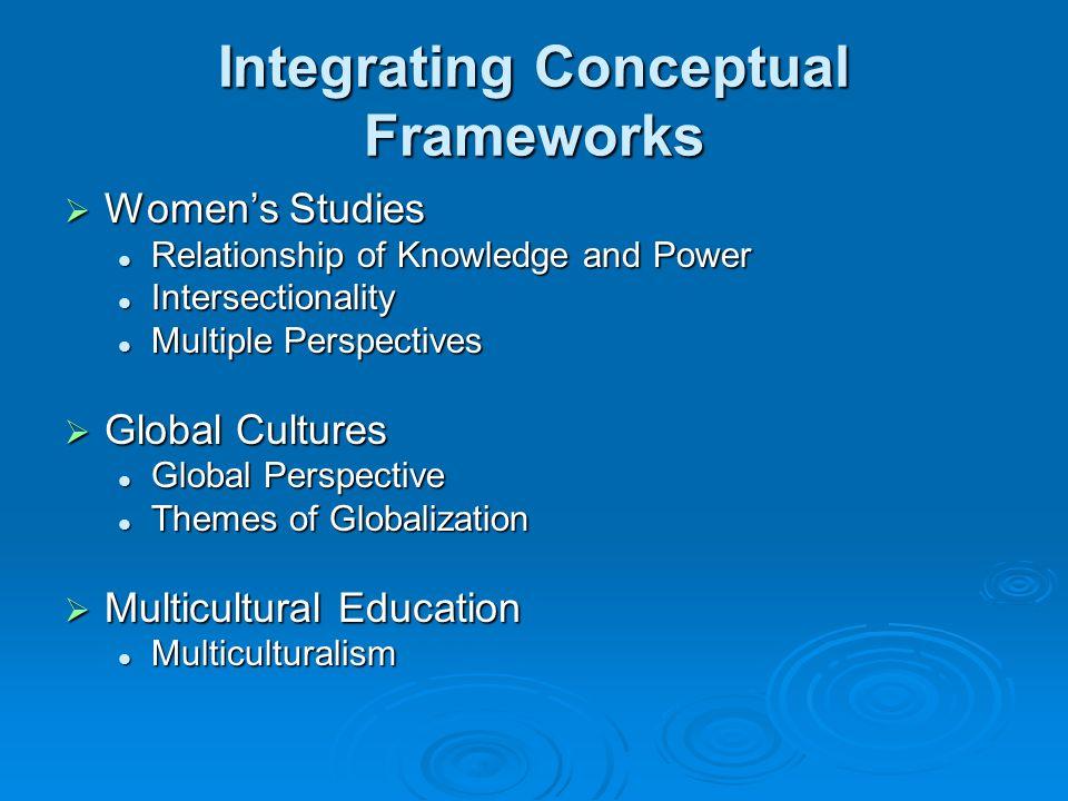 Integrating Conceptual Frameworks