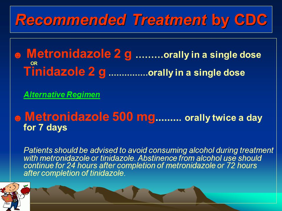 Recommended Treatment by CDC