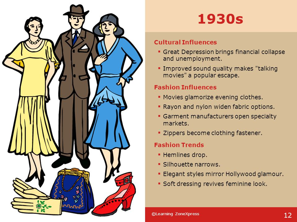 1930s Cultural Influences. Great Depression brings financial collapse and unemployment.