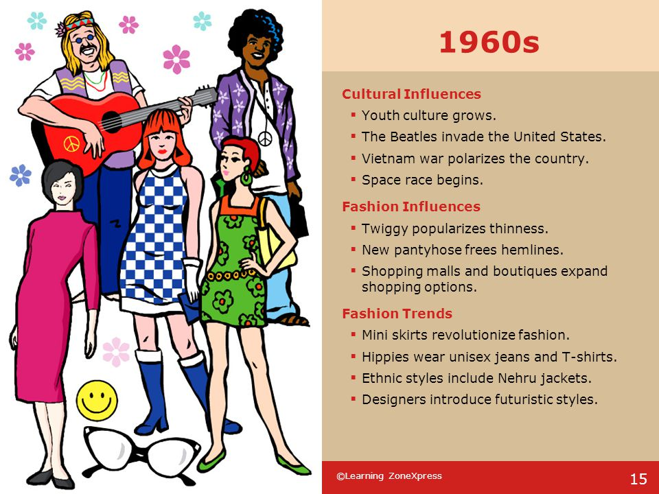 1960s Cultural Influences Youth culture grows.