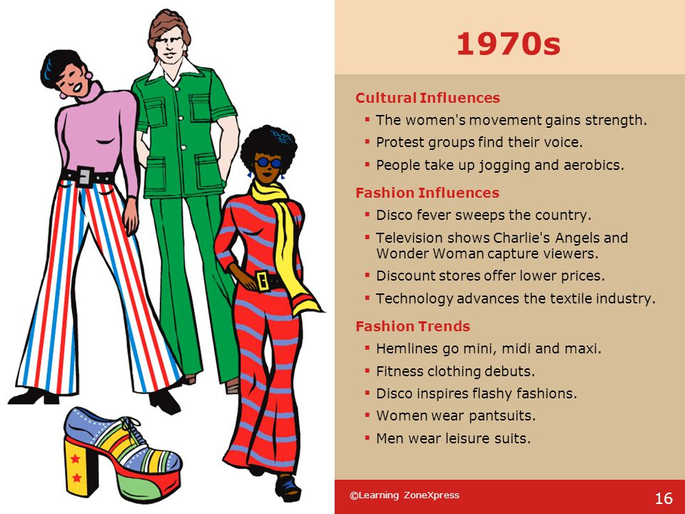 1970s Cultural Influences The women s movement gains strength.
