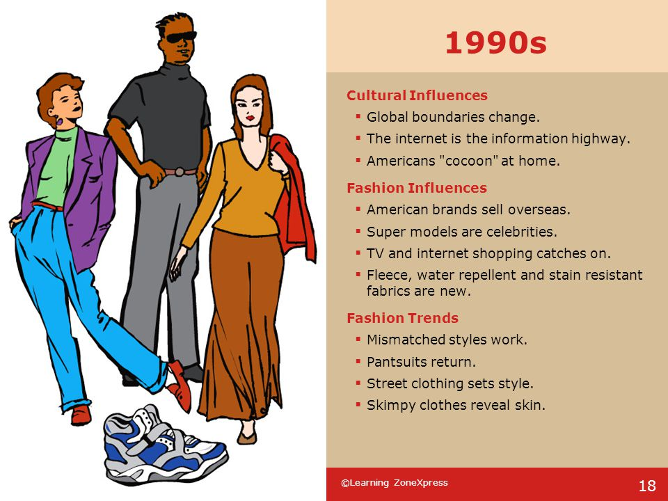 1990s Cultural Influences Global boundaries change.