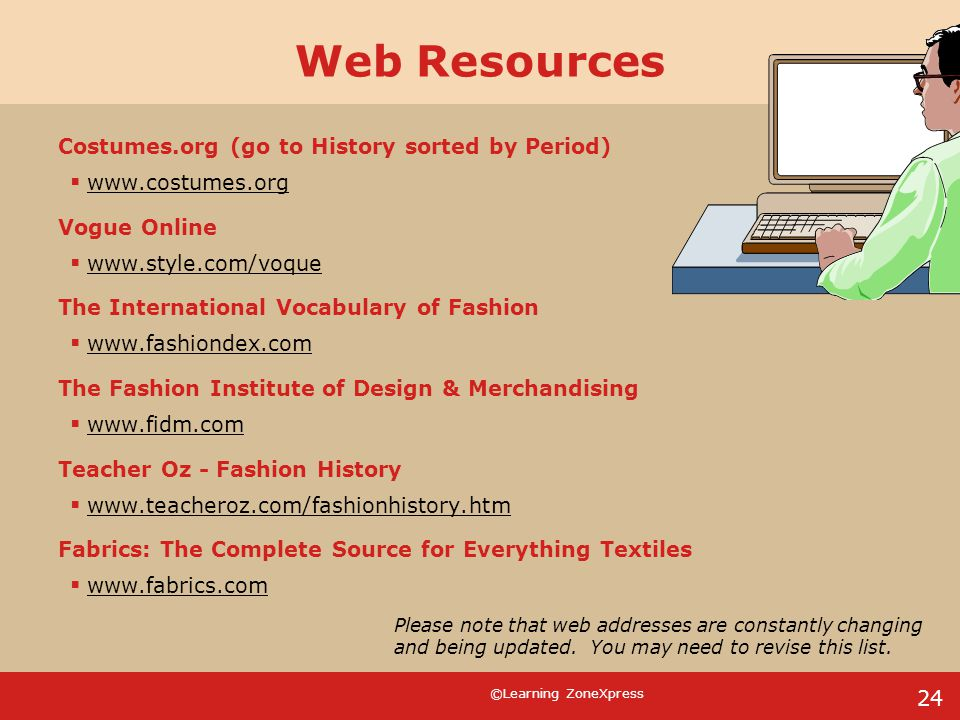 Web Resources Costumes.org (go to History sorted by Period)
