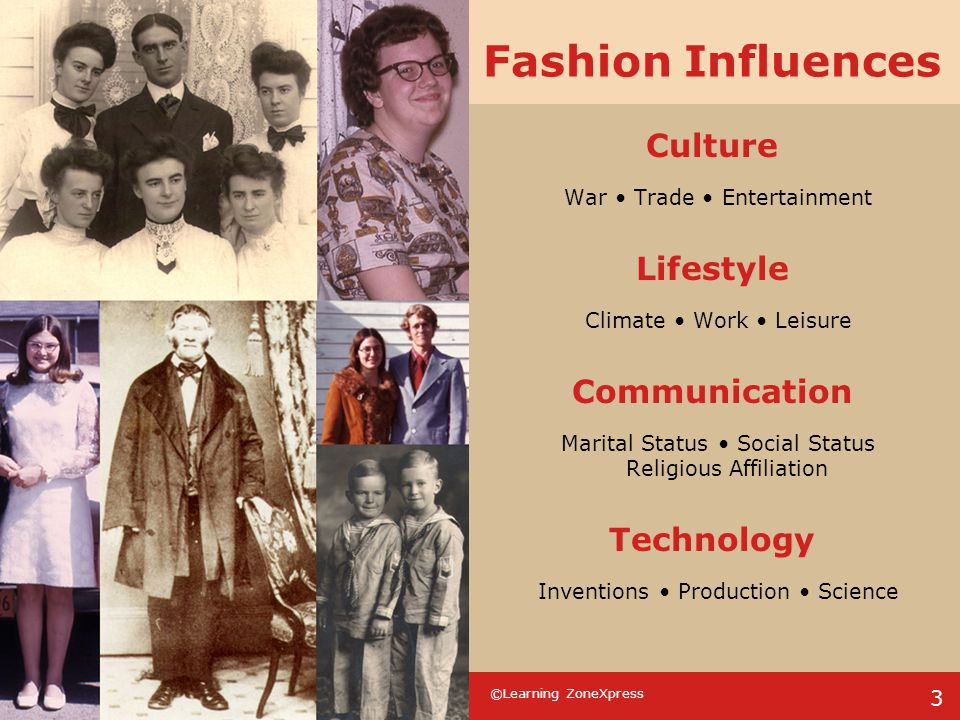 Fashion Influences Culture Lifestyle Communication Technology