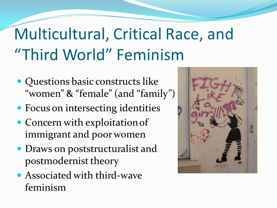 Multicultural, Critical Race, and Third World Feminism