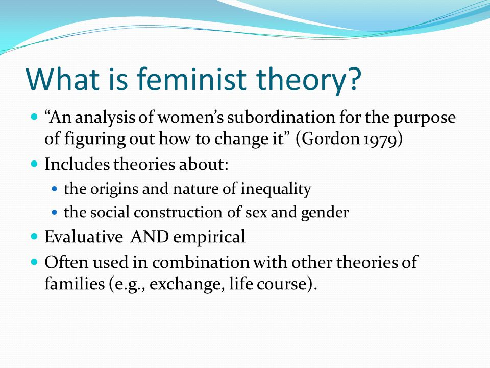 What is feminist theory