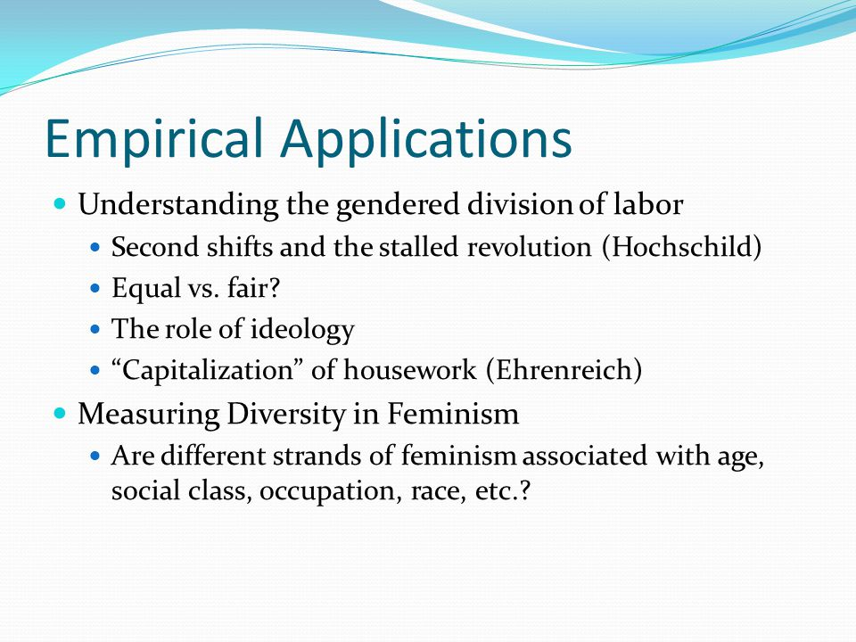 Empirical Applications