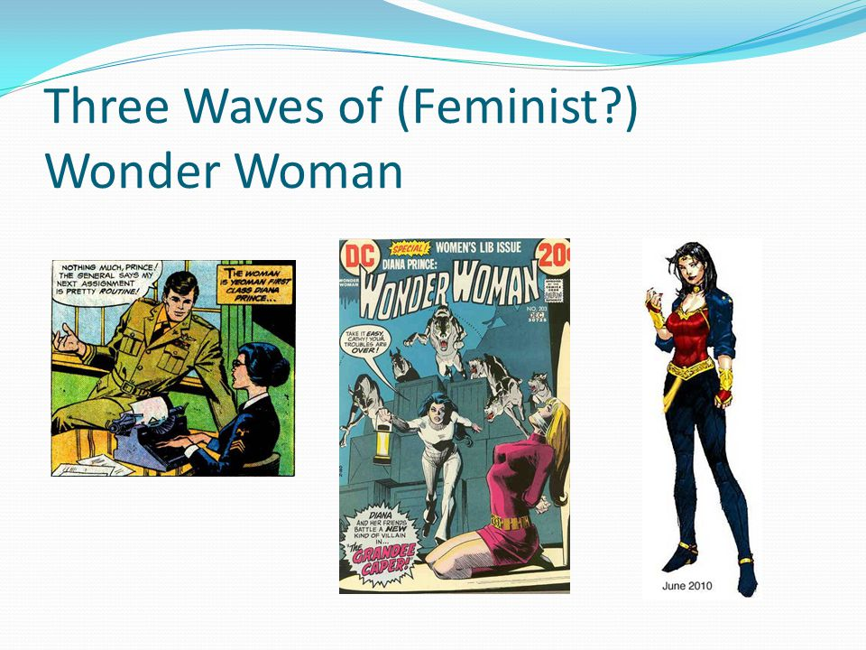 Three Waves of (Feminist ) Wonder Woman