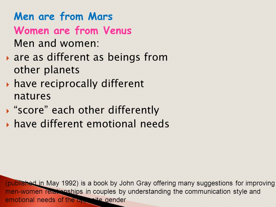 are as different as beings from other planets