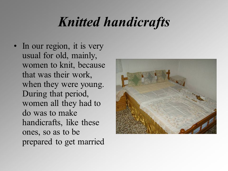 Knitted handicrafts