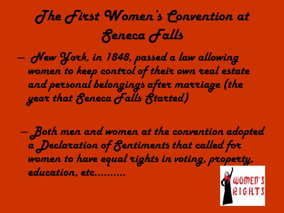 The First Women's Convention at Seneca Falls