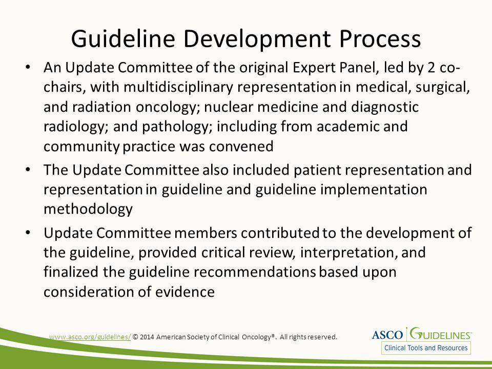 Guideline Development Process