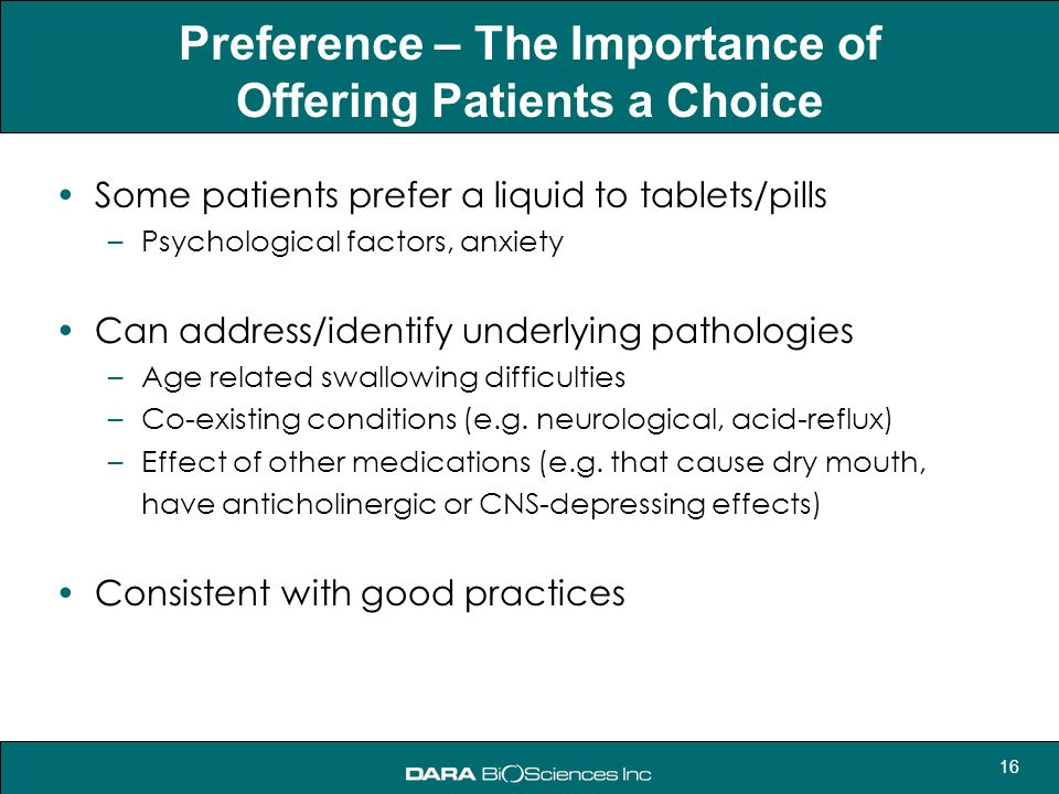 Preference – The Importance of Offering Patients a Choice