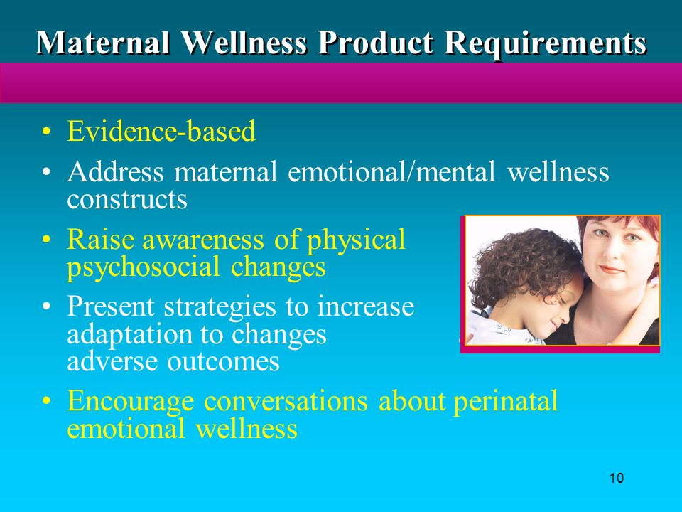 Maternal Wellness Product Requirements