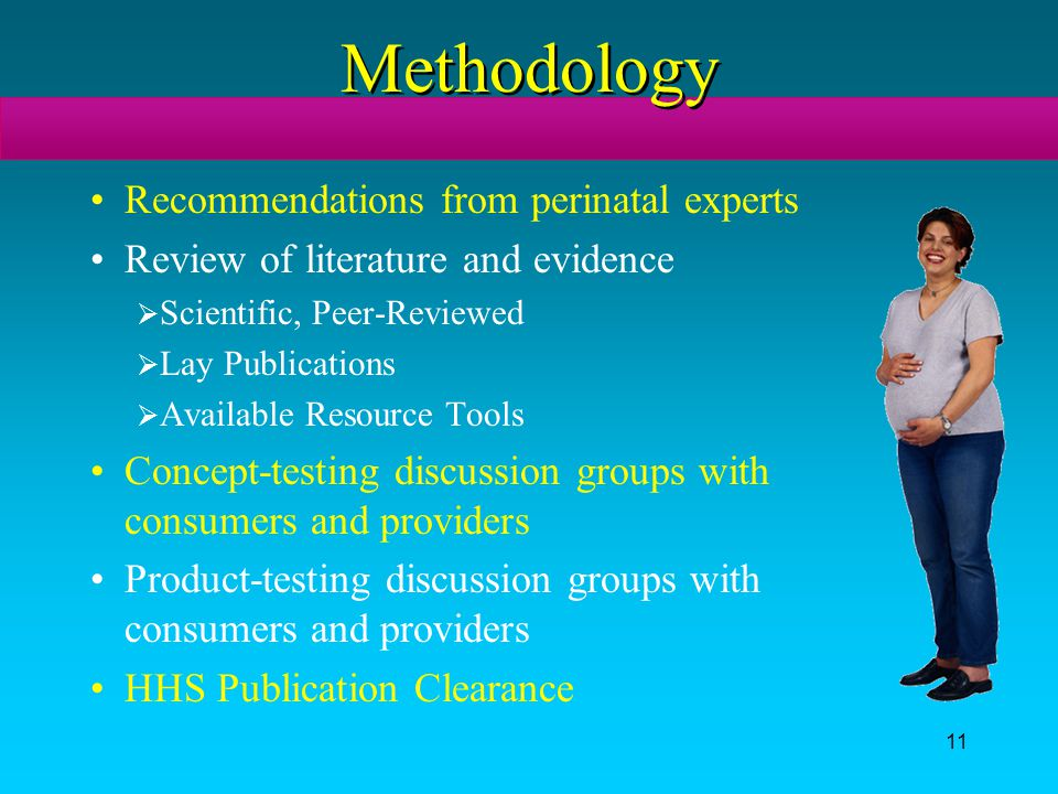 Methodology Recommendations from perinatal experts