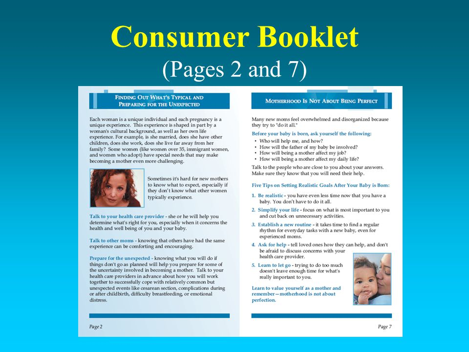 Consumer Booklet (Pages 2 and 7)