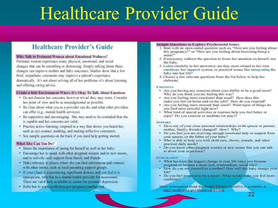 Healthcare Provider Guide