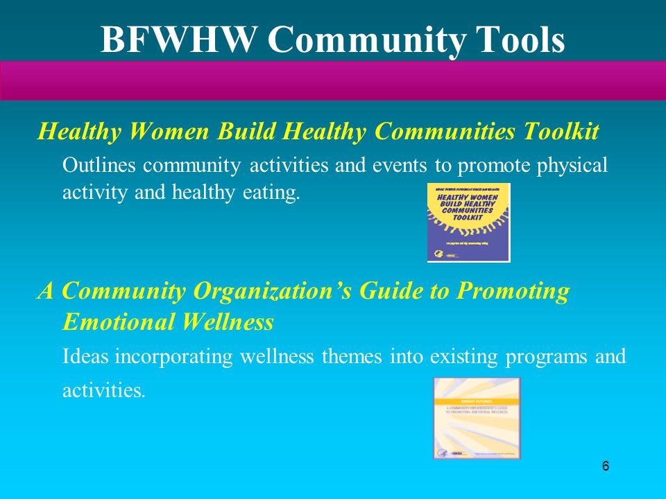 BFWHW Community Tools Healthy Women Build Healthy Communities Toolkit