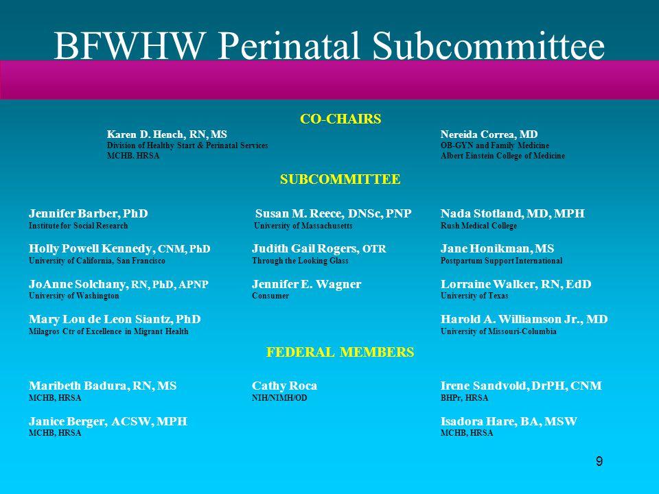 BFWHW Perinatal Subcommittee
