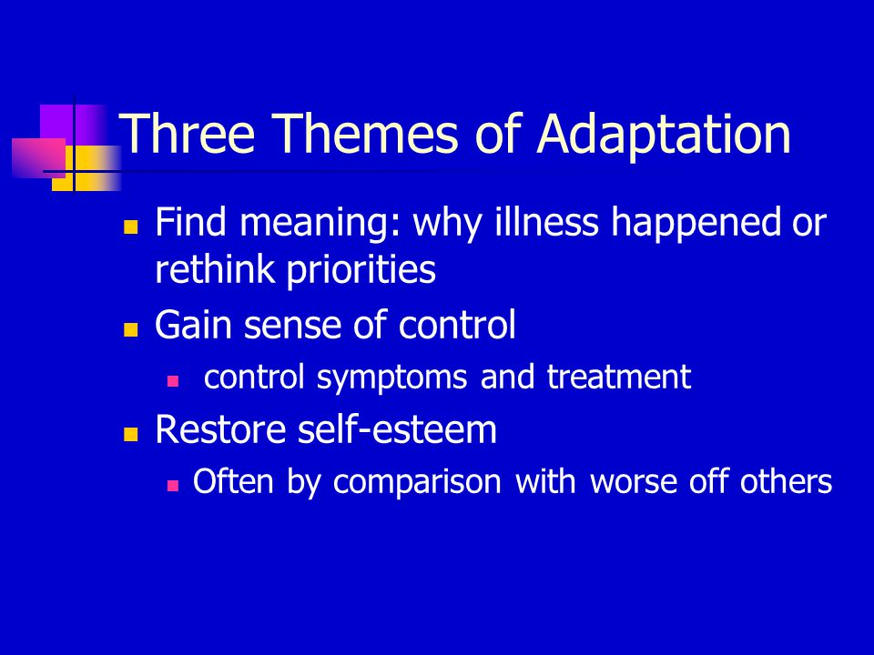 Three Themes of Adaptation