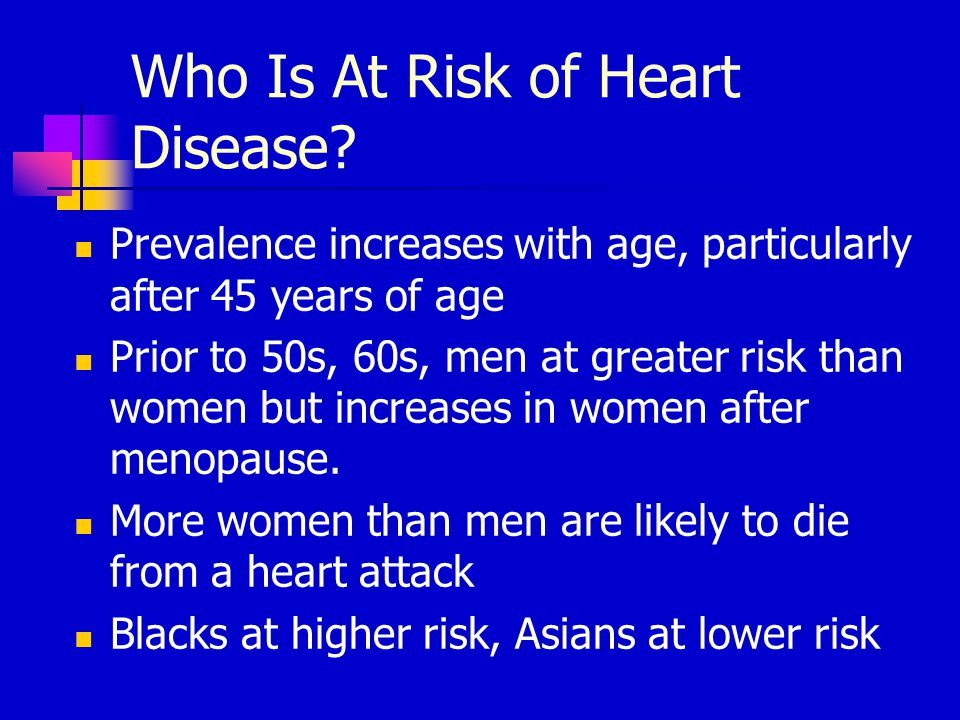 Who Is At Risk of Heart Disease