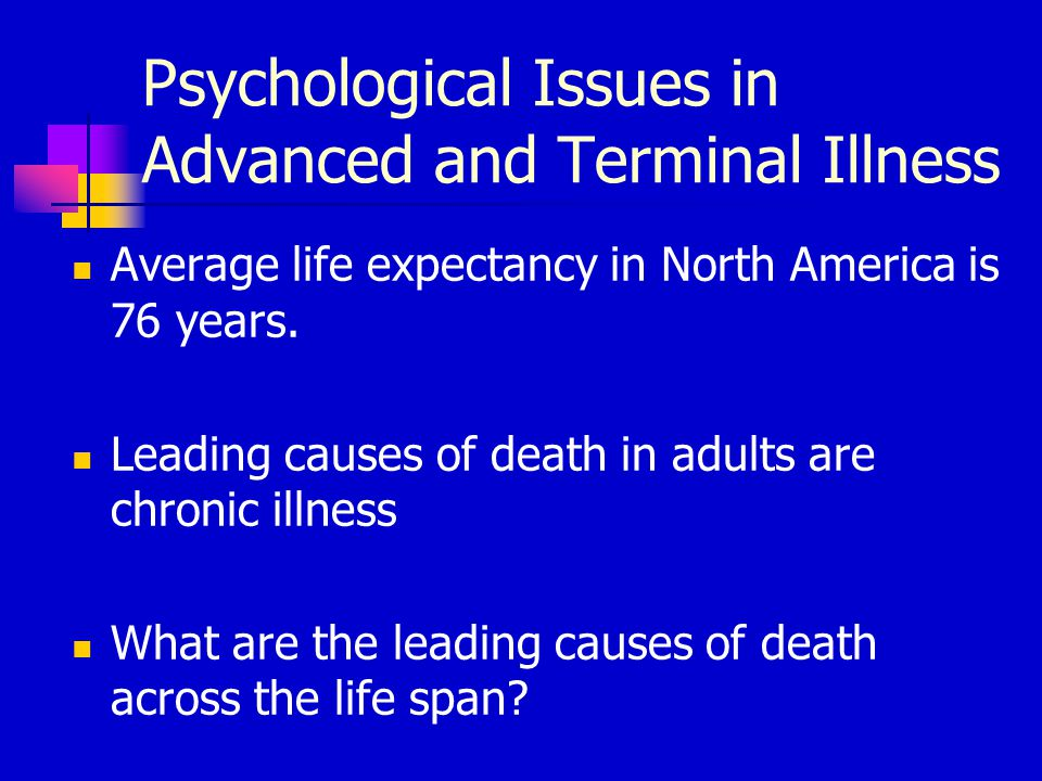 Psychological Issues in Advanced and Terminal Illness