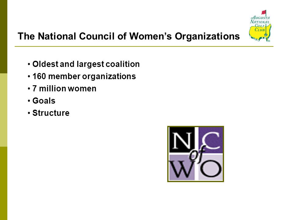 The National Council of Women's Organizations