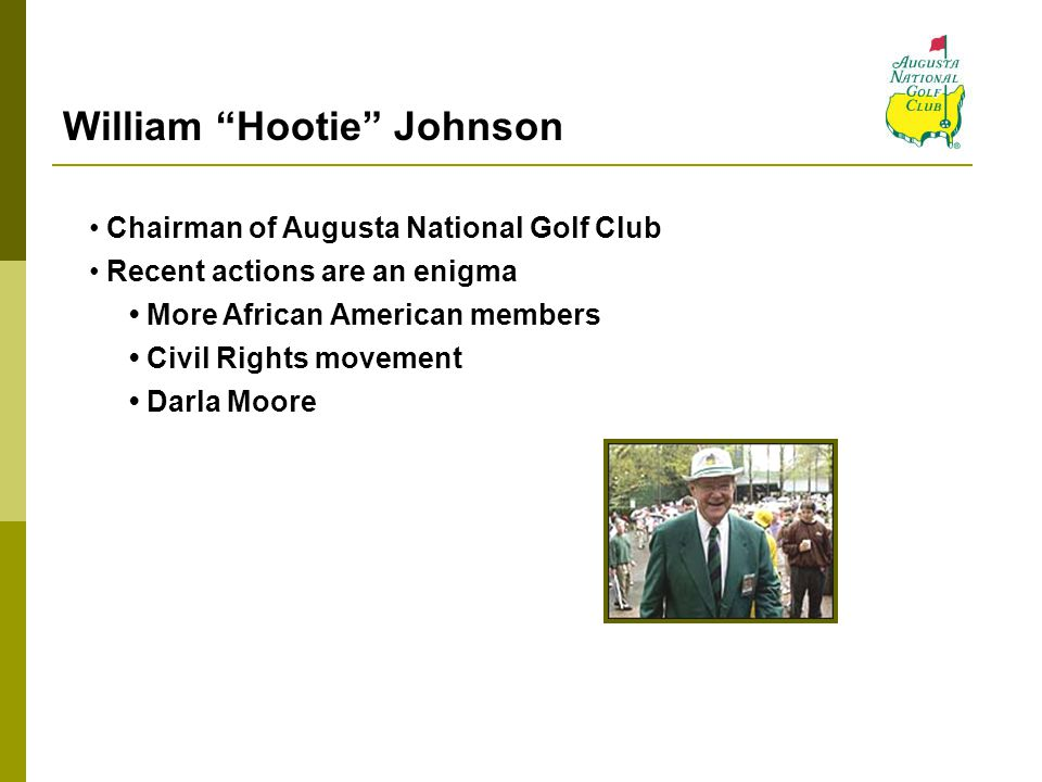 William Hootie Johnson