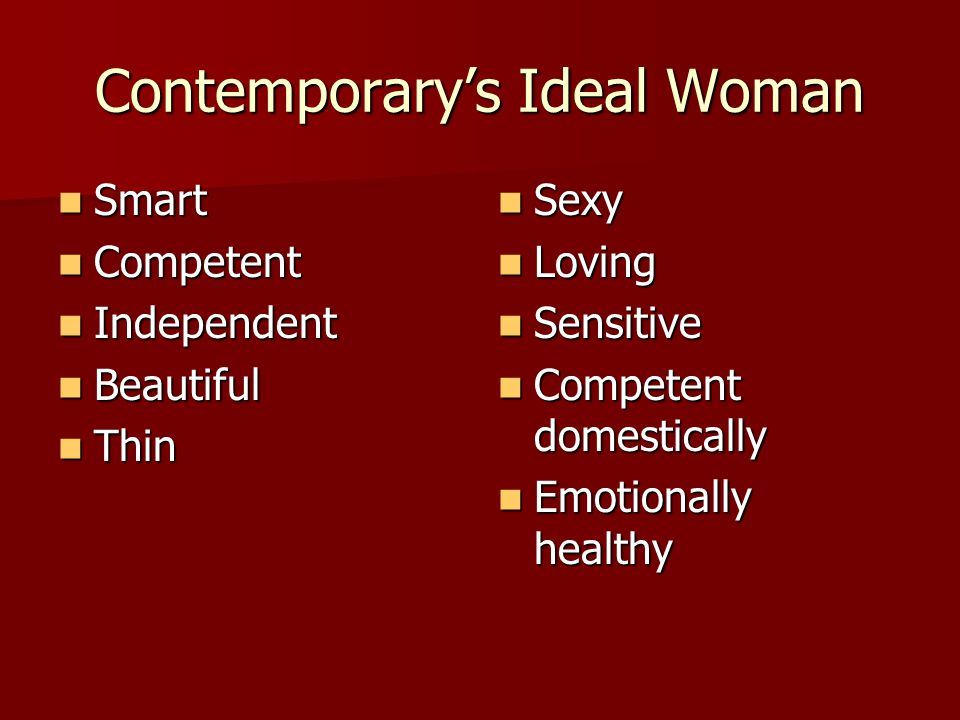Contemporary's Ideal Woman