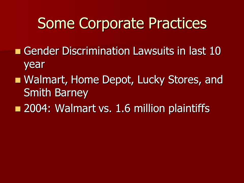 Some Corporate Practices