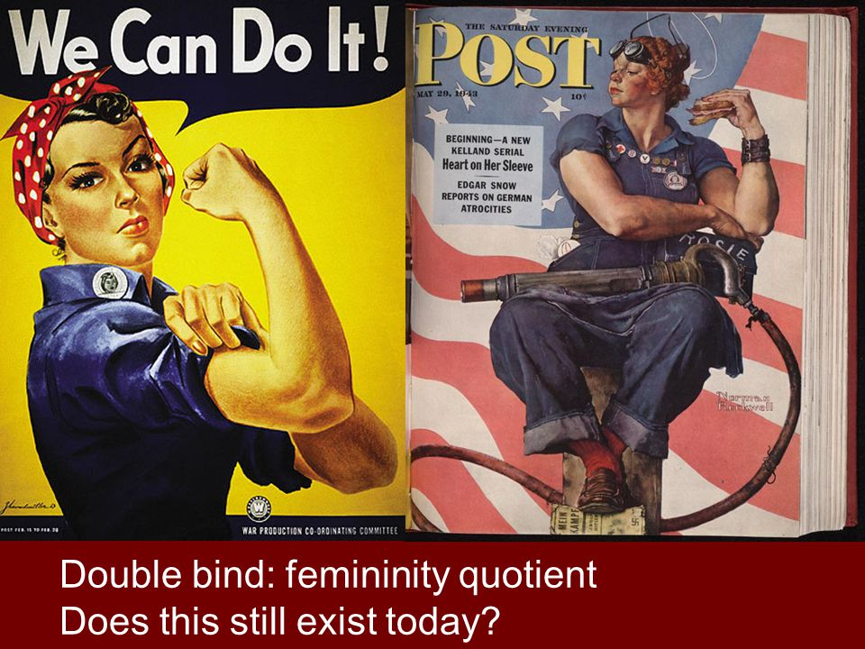 Double bind: femininity quotient