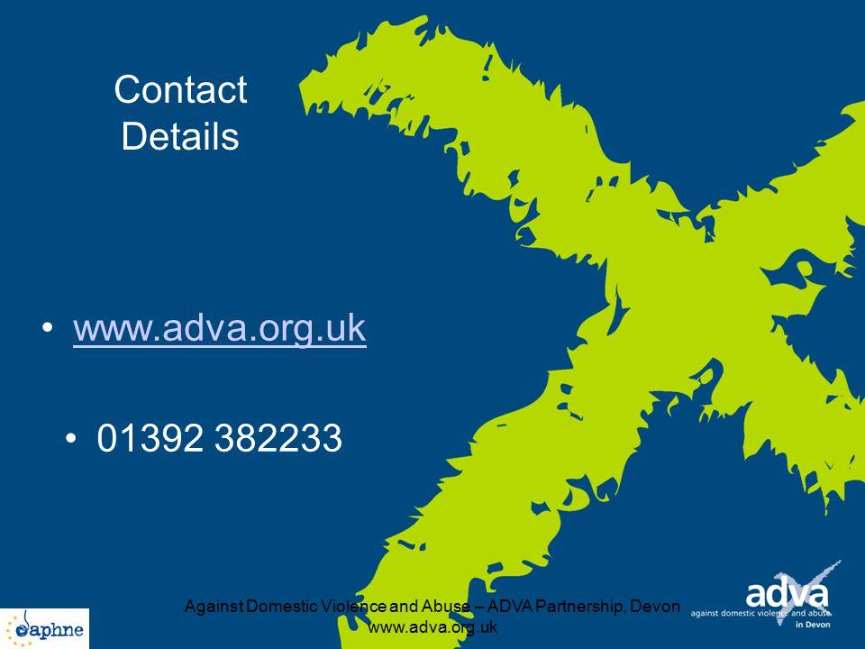 Against Domestic Violence and Abuse – ADVA Partnership, Devon